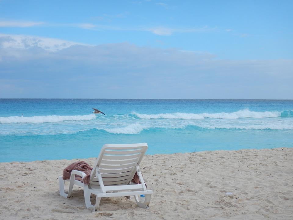 Sea, Blue, Ocean, Water, Wave, Landscape, Mexico, Beach
