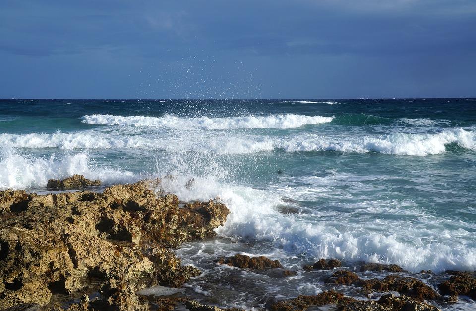 Sea, Water, Mexico, Cliffs, Cozumel