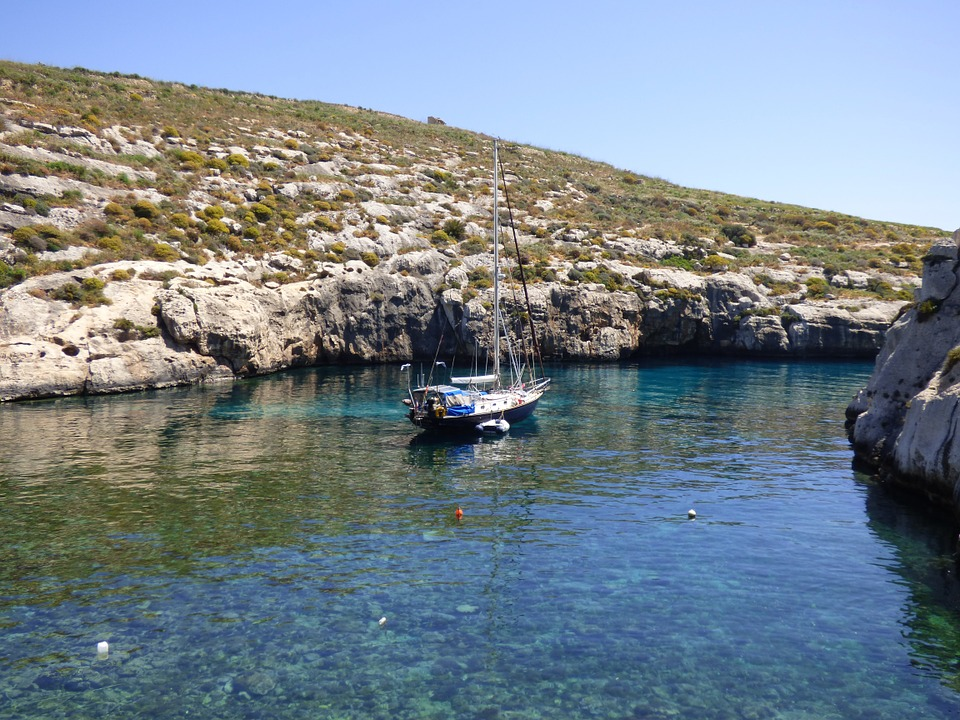 Mgarr Ix-xini, Bay, Secluded, Boat, Sea
