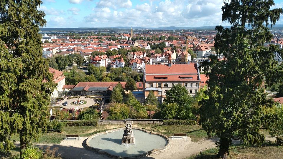 Bamberg, Panorama, Michel Mountain, Fountain, City
