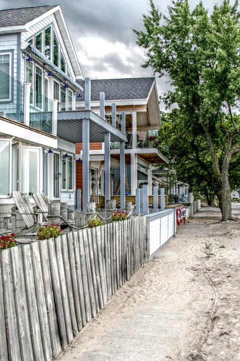 Beach, House, Sand, St Joseph, Michigan, Lake Michigan