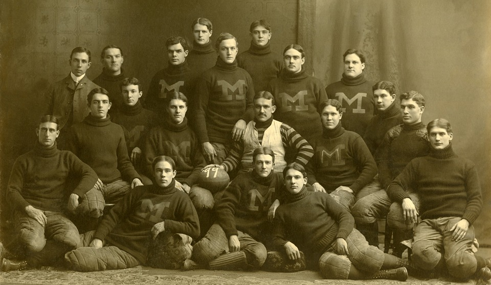 Team, American Football, Michigan Wolverines, 1899