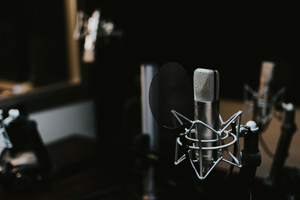 Recording Studio, Indoors, Mic, Microphone, Sound