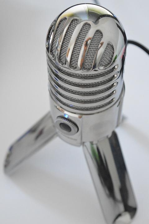 Chrome, Steel, Equipment, Shiny, Metallic, Microphone