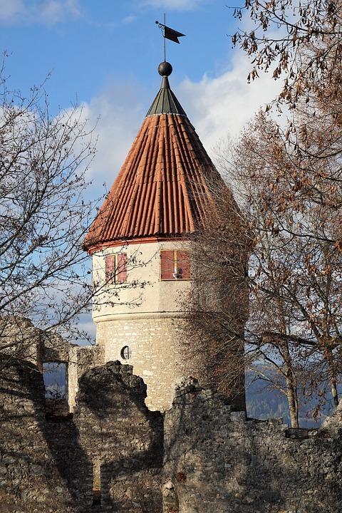 Castle, Ruin, Tower, Fortress, Middle Ages, Tuttlingen