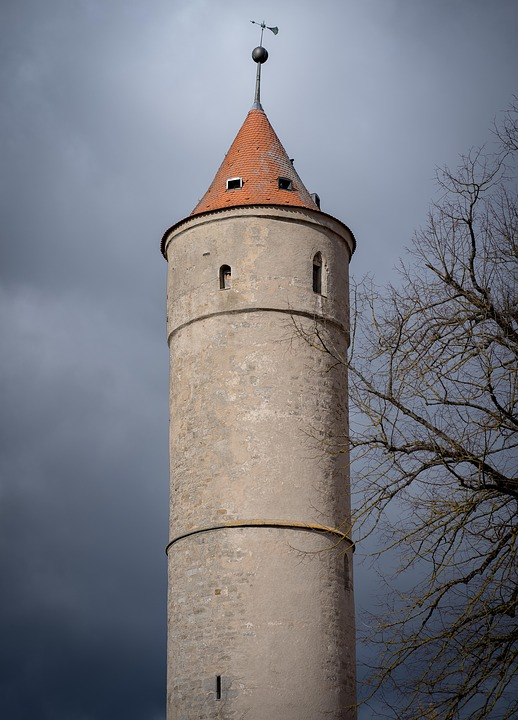 Dinosaur, Fachwerkhaus, Tower, Middle Ages, Picturesque