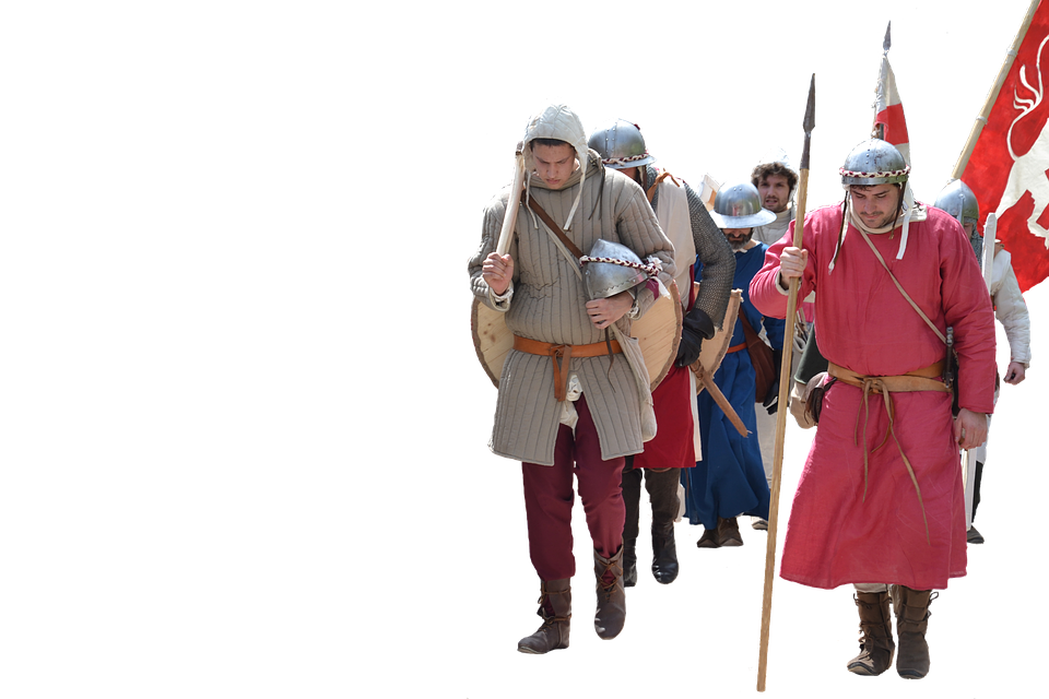 Gear, Middle Ages, Soldiers, Army, Feudal, Reenactment