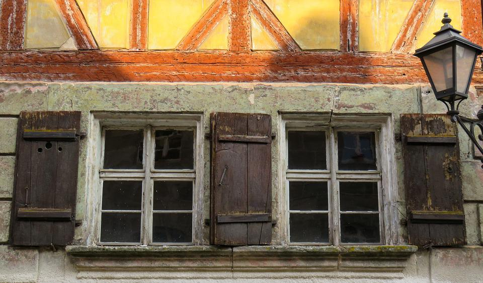 Window, Old, Ruin, Middle Ages, Lantern, Old House