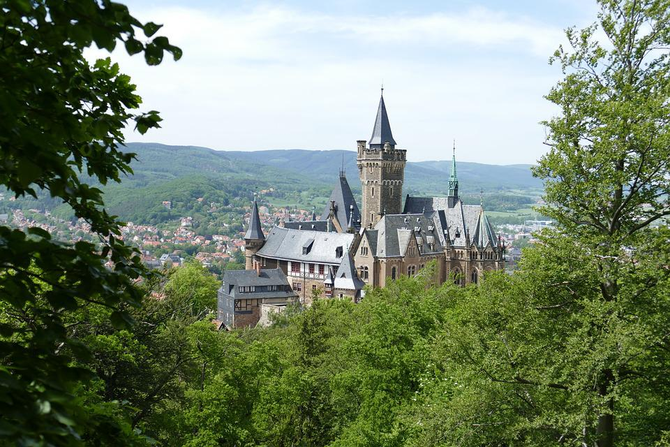 Castle, Wernigerode, Forest, Nature, Middle Ages
