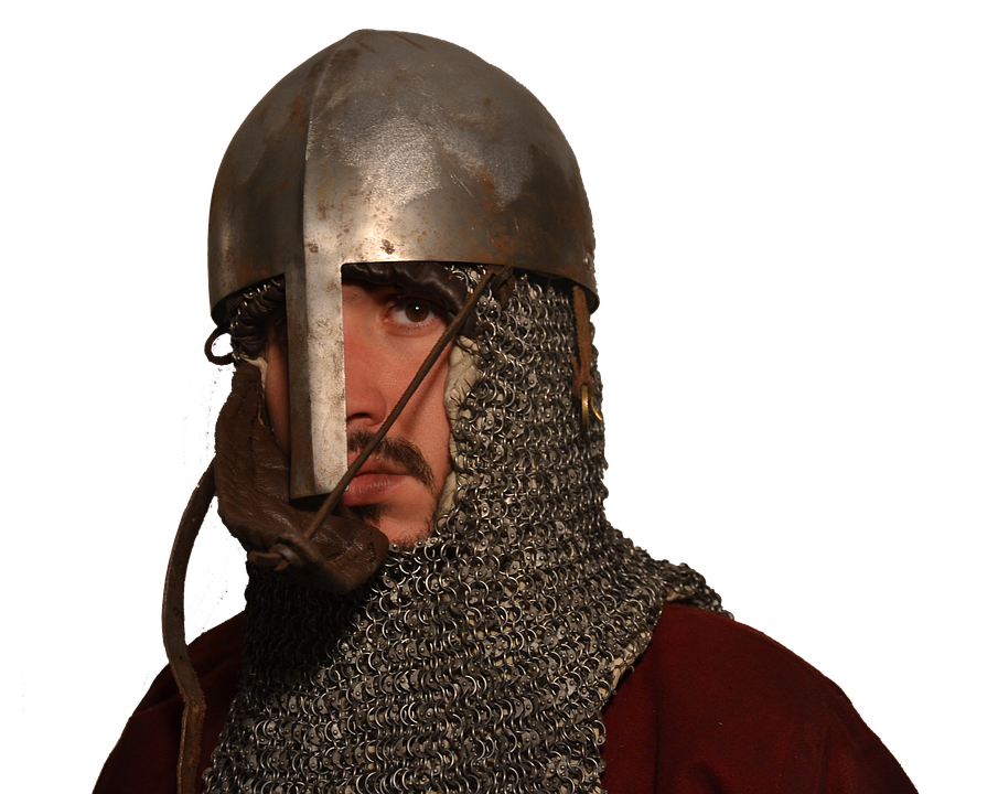 Middle Ages, Elmo, Mail Armor, Soldier, Reenactment