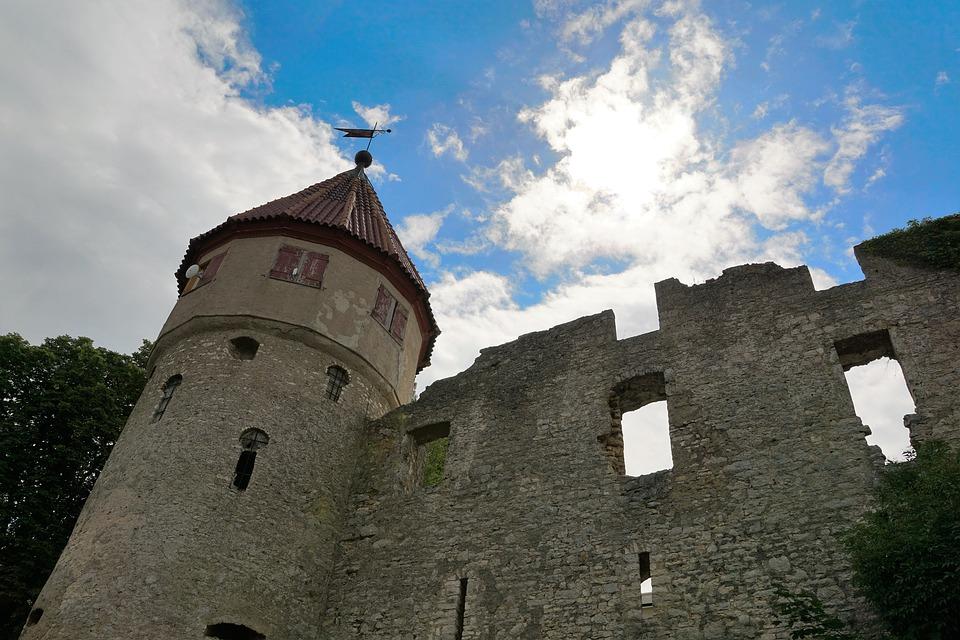 Castle, Tuttlingen, Ruin, Germany, Middle Ages