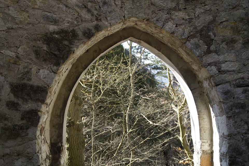 Archway, Castle, Middle Ages, Rusenschloss, Swabian Alb