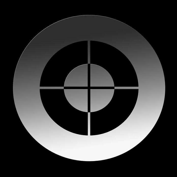 Crosshair, Visor, Focal Point, Center, Middle