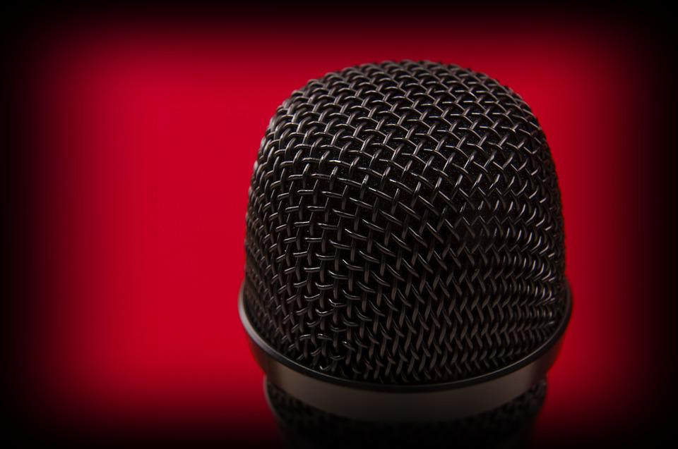 Microphone, Music, Mike, Entertainment, Sound, Red
