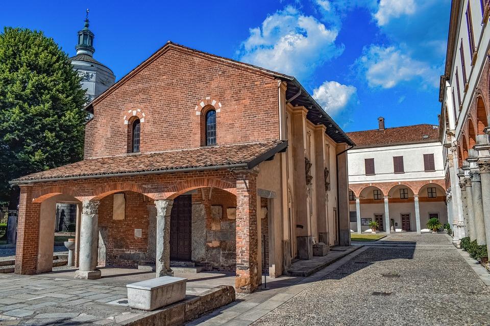 Church, Monastery, Sant Ambrogio, Milan, Italy