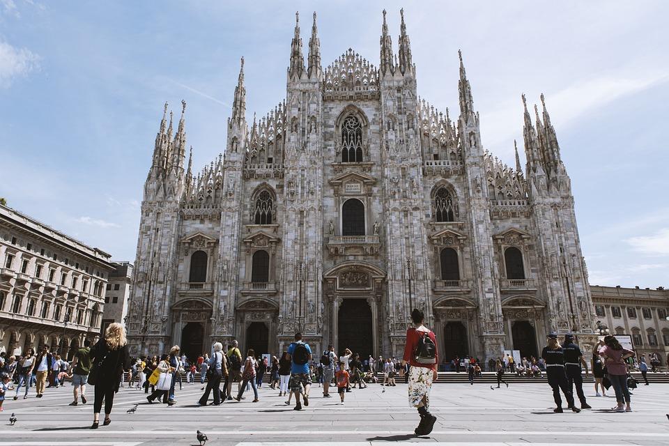 Europe, Italy, Milan, Church, Square, Milan Cathedral