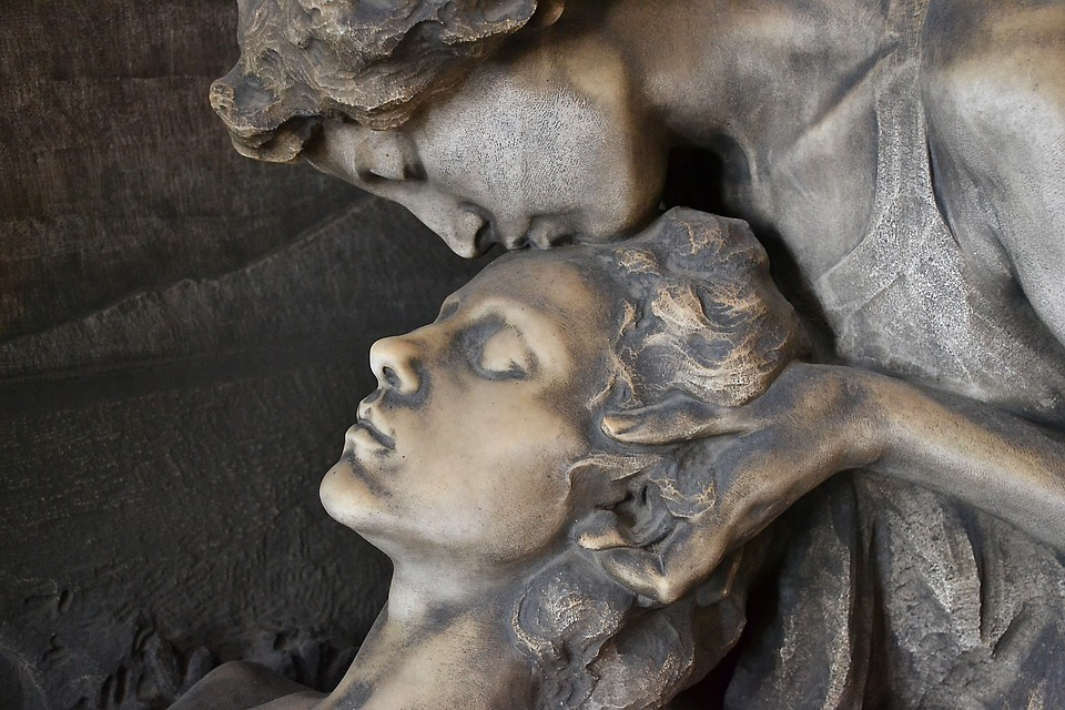 Milan, Cemetery, Sculpture, Statues, Bust, Religion