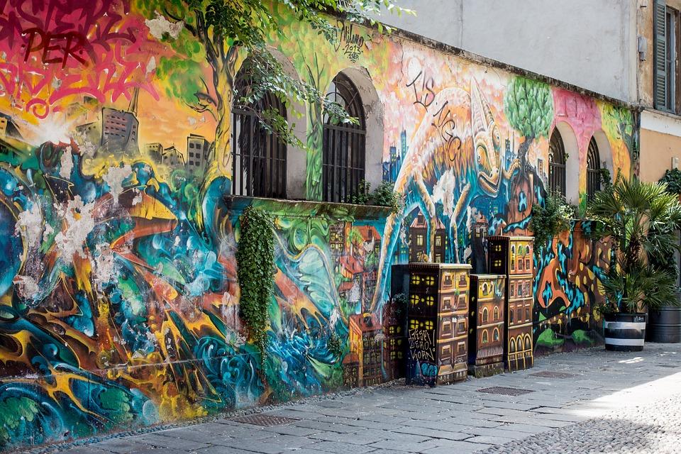 Graffiti, Milan, Via Santa Croce, Wall, Paint, Art