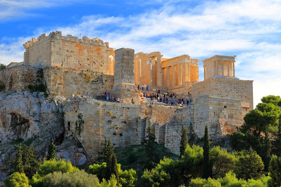 Athena, Acropolis, Ancient, Plate, Greece, Milestone