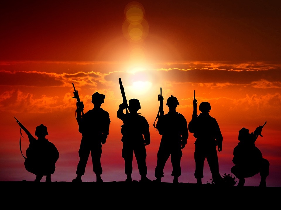 Soldiers, Sunset, Military, Twilight, Heroes, War, Army