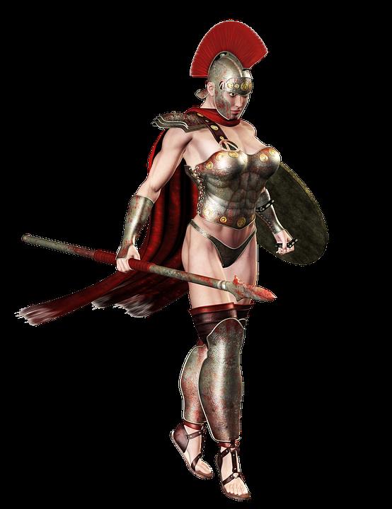 Girl, Weapon, Army, Military, Legionary, Roman 3d