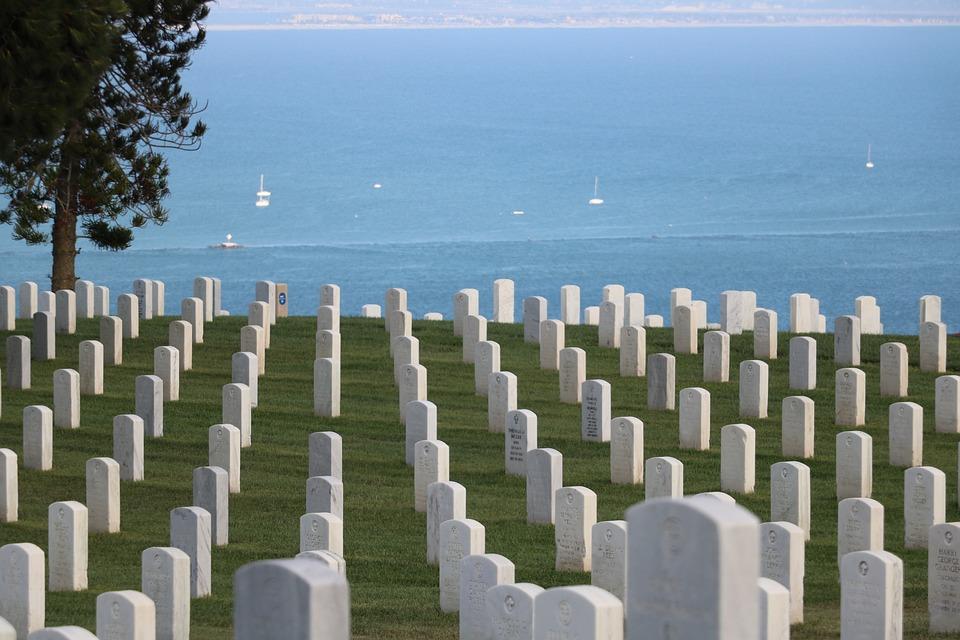 Cemetery, Military, Navy, Graveyard, Tombstone