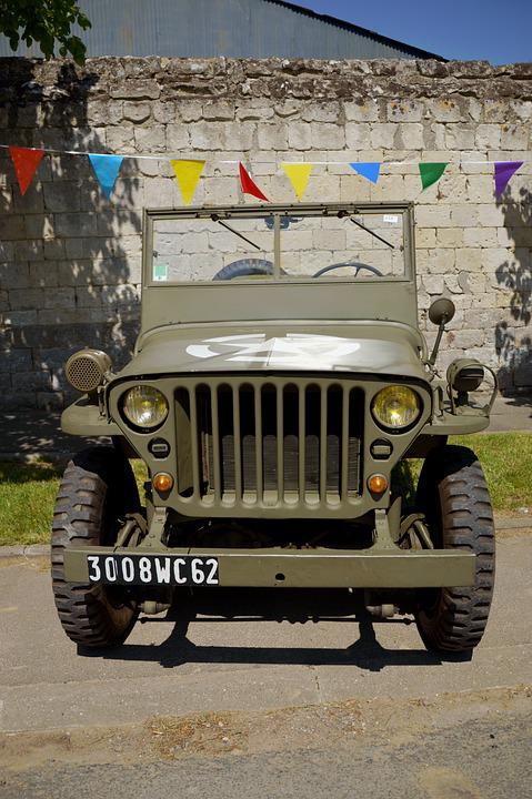 Jeep Willys, Vehicle, Military, Car, Former, Retro
