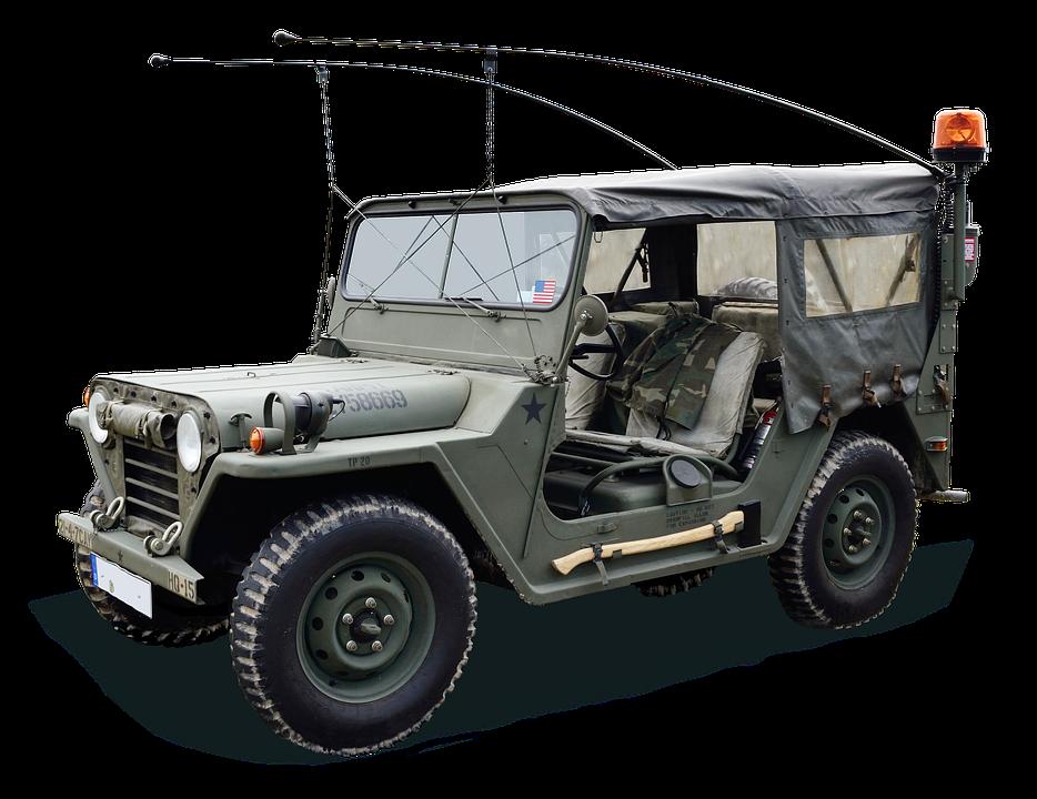 Auto, Jeep, Green, Tent, Military, Machine