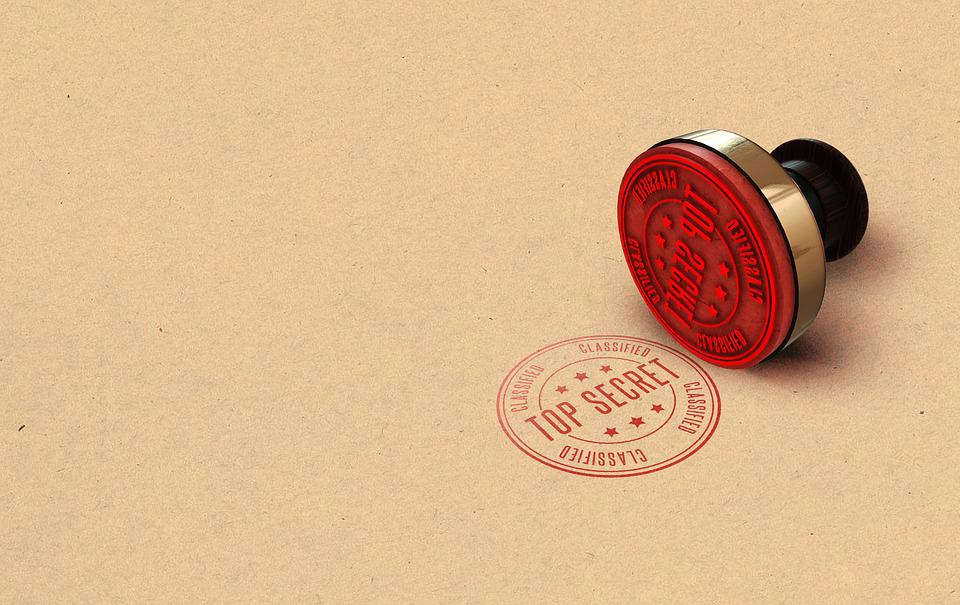 Secret, Top, Stamp, Spy, Army, Military, File, Icon