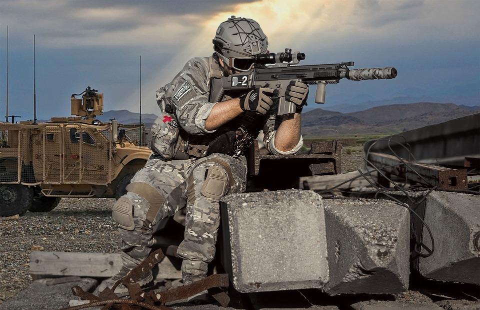 Military, Battle, Gun, War, Soldier