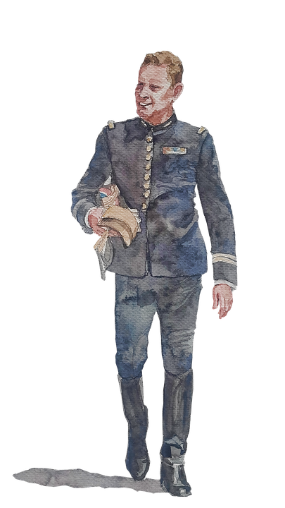 Uniform, Clipart, Watercolor, Military, Drawing, French