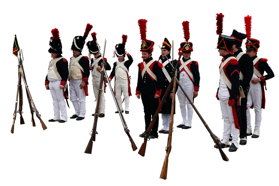Soldiers, Uniforms, Military, Riffles, Guns, Weapons