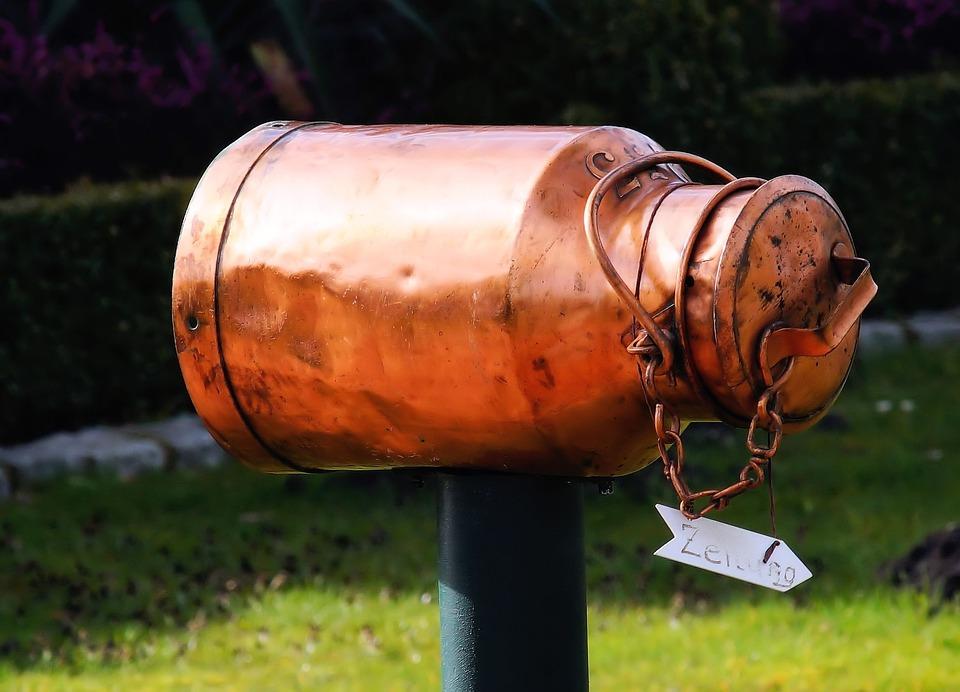Milk Can, Copper, Mailbox, Eye Catcher, Ornament