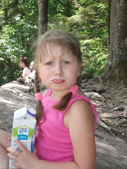 Child, Milk, Forest