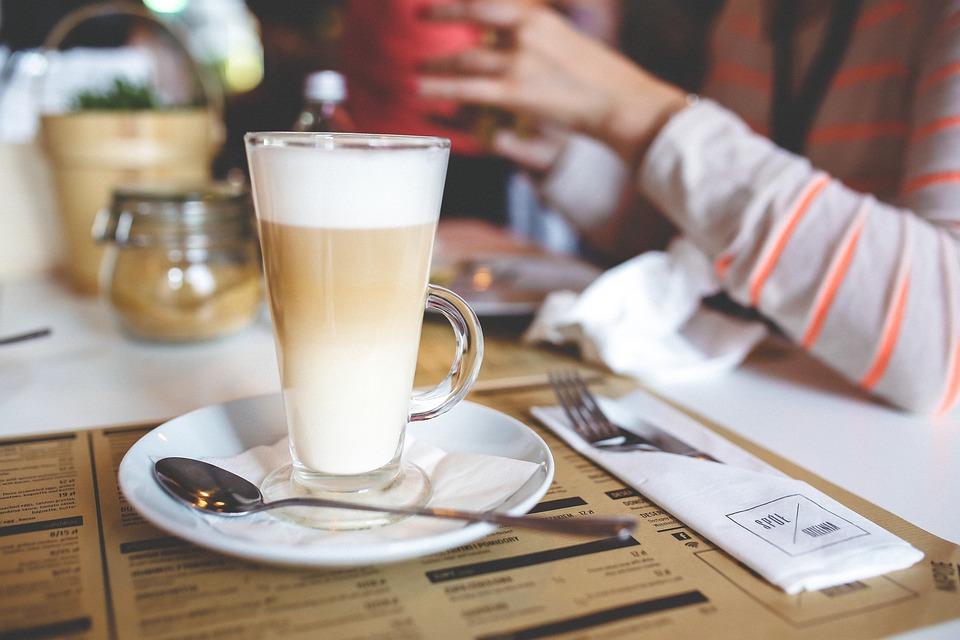 Coffee, Latte, Milk, Layers, Layered, Tall, Glass