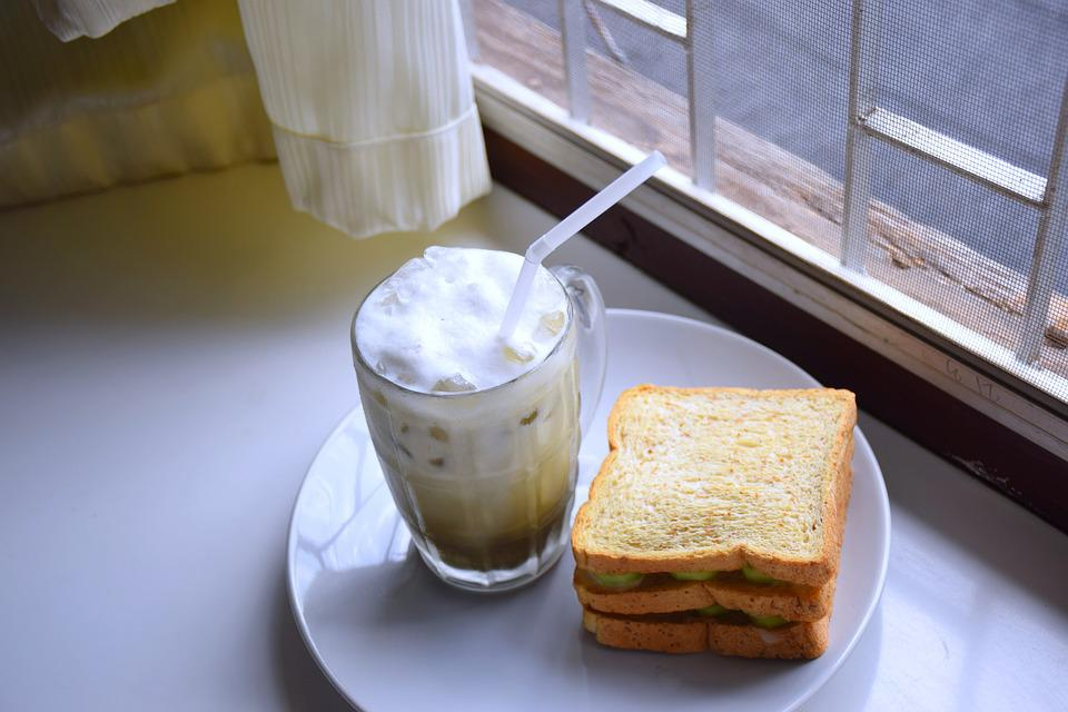Beverage, Milk, Green Tea, Bubble Milk, Sandwich, Snack