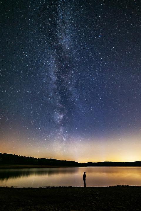 Milky Way, Human, Lake, Dreams, Night Sky, Galaxy