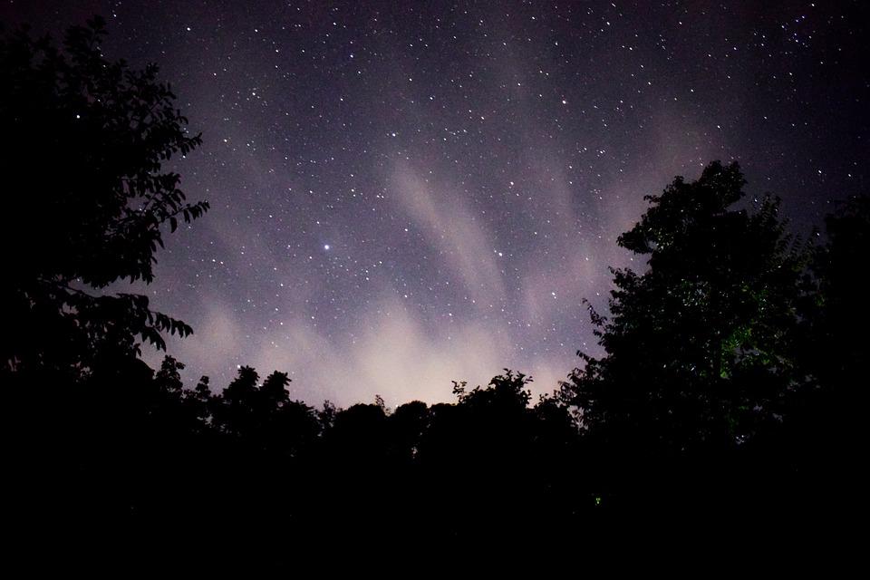 Night At Kashmir, Milky Way, Kashmir, Clouds, Stars