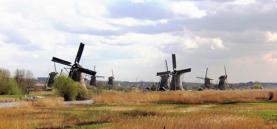 Mill, Holland, Kinderdijk, Mill Blades
