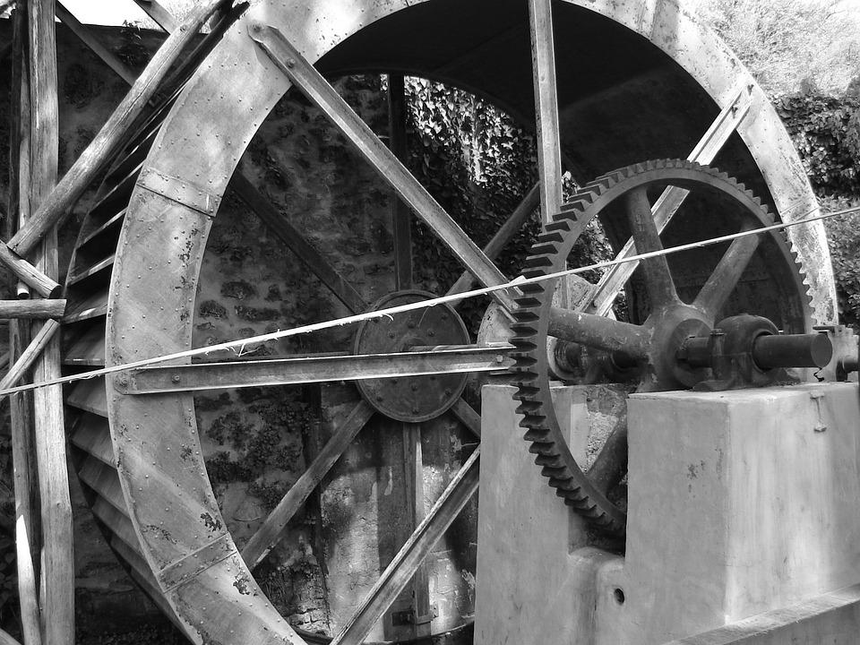 Industrial, Watermill, Mill, Industry, Rural, Wheel
