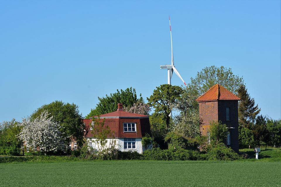 Landscape Polder, Old Mill, Mill, Windmill