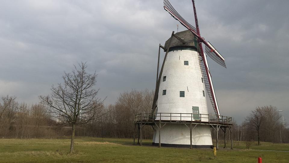 Lillo, Antwerp, Mill, Eénhoorn, White Mill