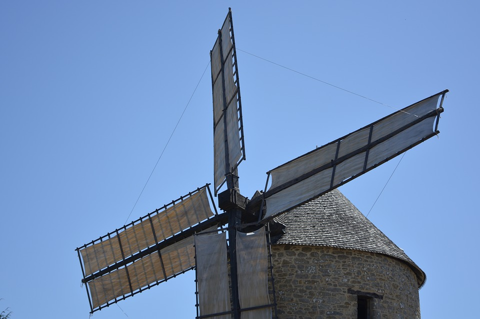 Mill, Wings Of The Moulin, Mill Mont Dol, Brittany