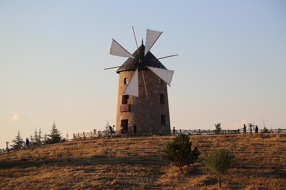 Windmill, Mill, Wind, Rural, Agriculture, Travel