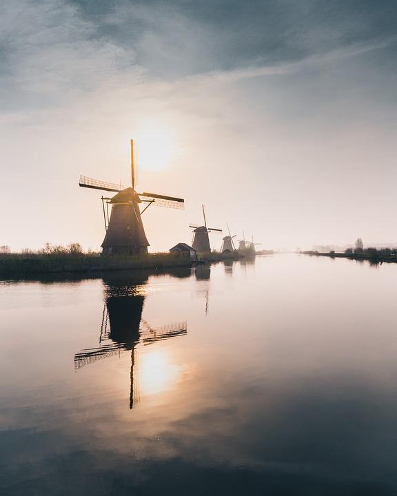 Mill, Windmill, Wind, Landscape, Netherlands