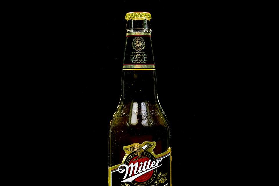 Miller, Bottle, Glass, Beer, The Drink, Alcohol