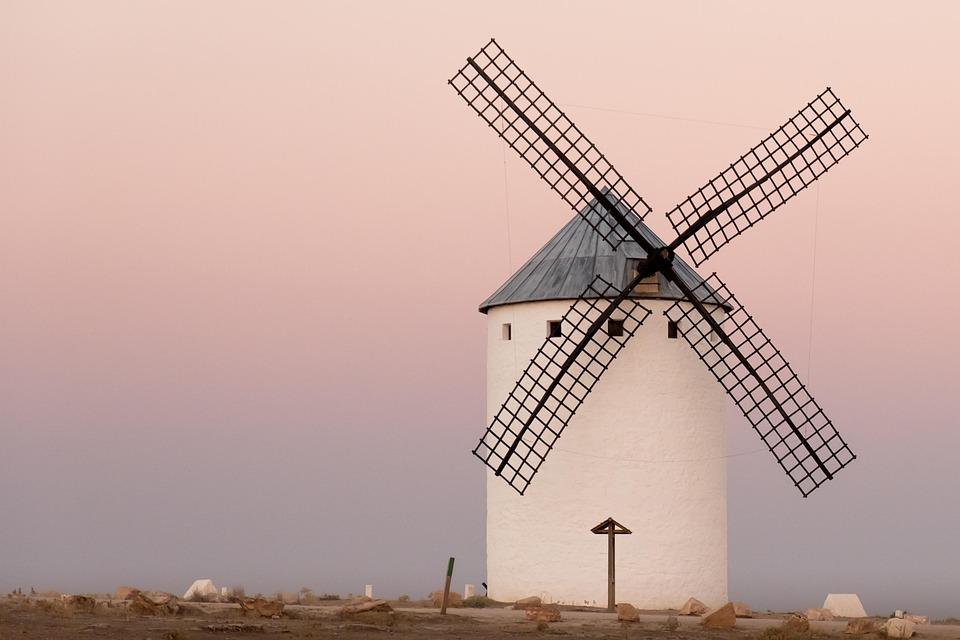 Sunset, Mills, Castilla, Stain, Wind, Breeze, Old