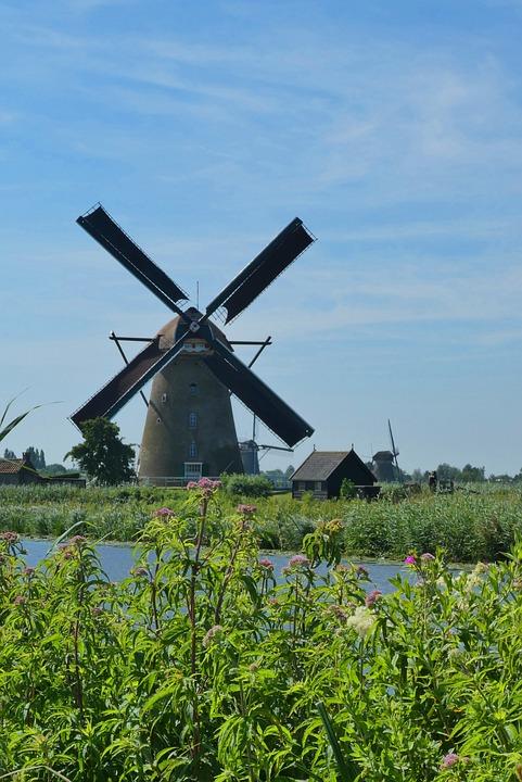 Mills, Kinderdijk, Unesco World Heritage Site