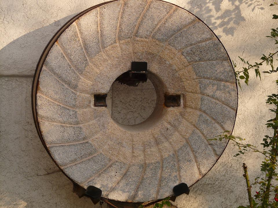 Millstone, Mill, Stone, About, Wheel, Grind