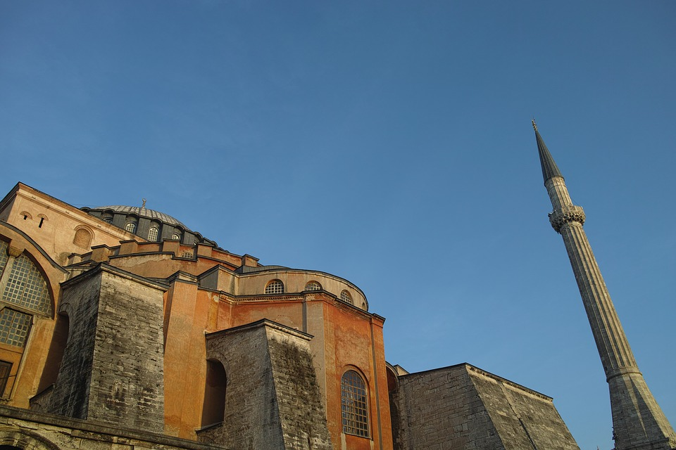 Hagia Sophia, Church, Blue, Cami, Minaret, Islam